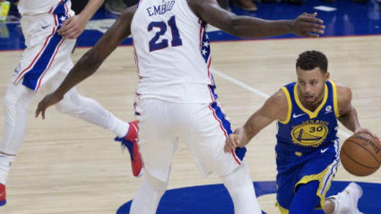 Steph Curry With His Best 'Joel Embiid' Impersonation
