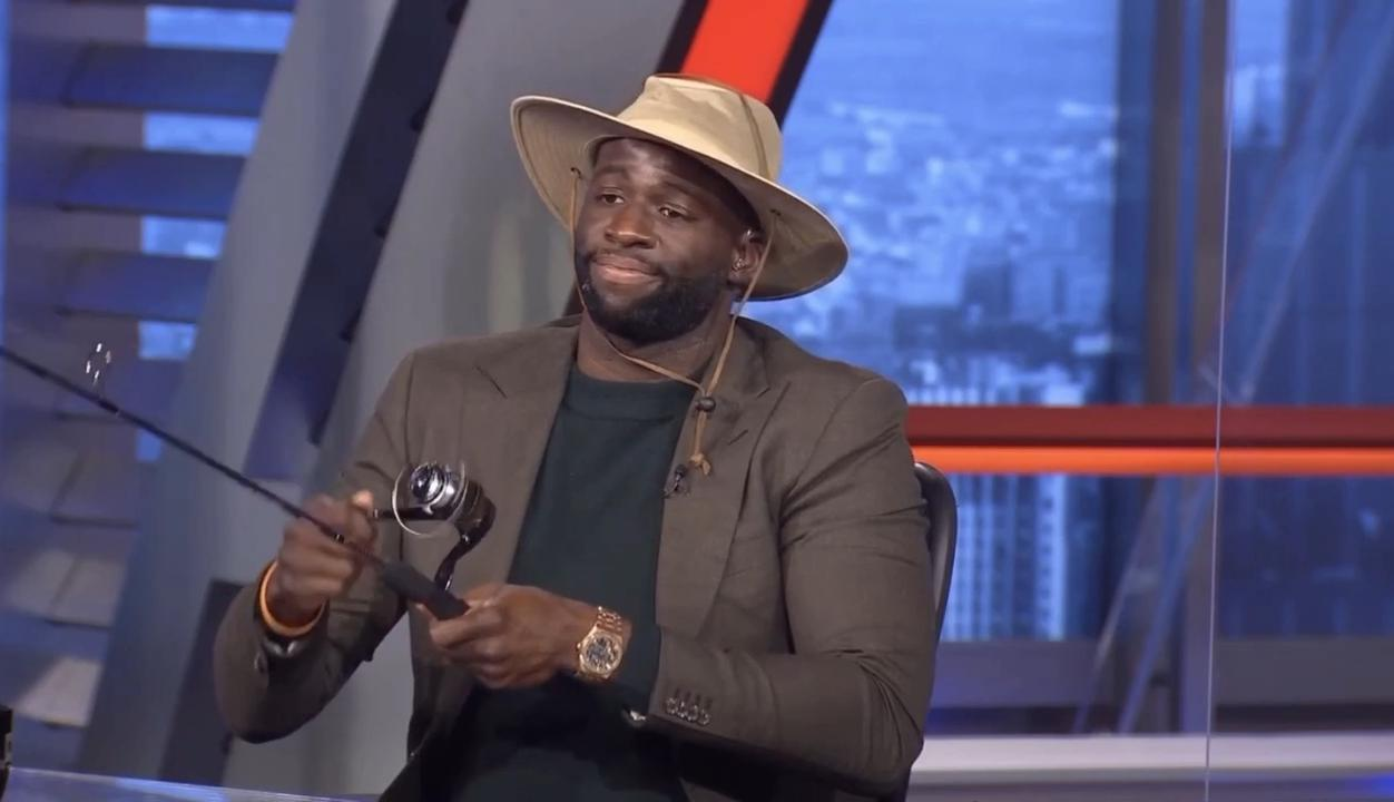 """Draymond Green On Gone Fishin' """"I Think It's Pretty Ironic That I'm Putting On Fishing Gear... And I've Been Fishing"""""""