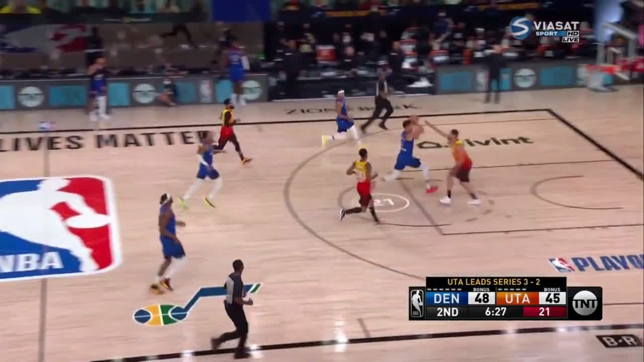 Gary Harris great stretch vs Jazz where he navigates screens, steals the ball, rebounds and scores shows the Nuggets what they were missing in first 5 games