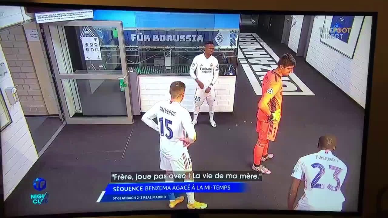 Benzema told Mendy at half-time with Vinicius standing right there: