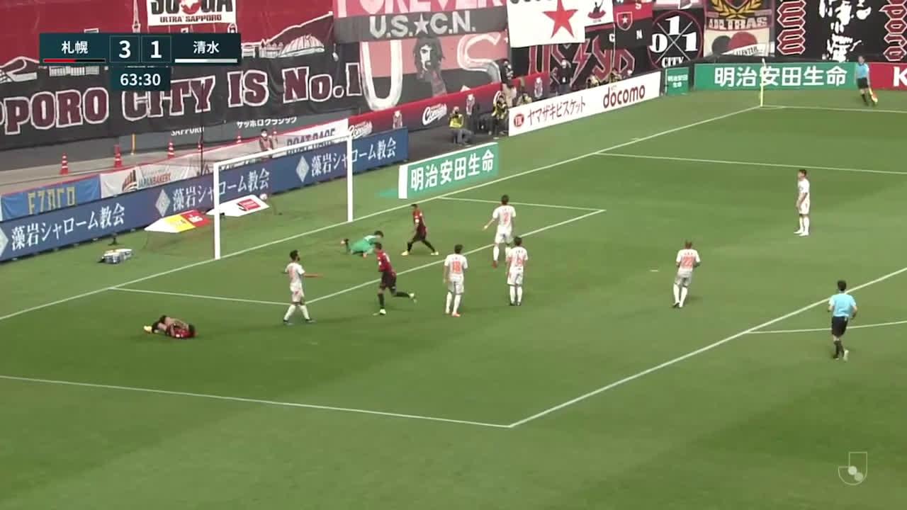 Hokkaido Consadole Sapporo (4)-1 Shimizu S-Pulse - Jay Bothroyd goal