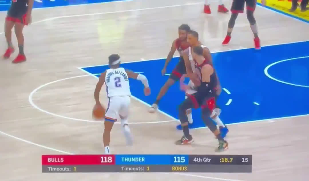 [Highlight] Shai Gilgeous-Alexander sets career-high 33 points while hitting clutch and 1 to force overtime