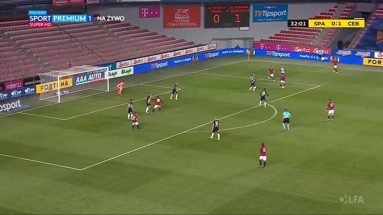 Sparta Praha [1]-1 Dynamo České Budějovice - David Moberg Karlsson 33'