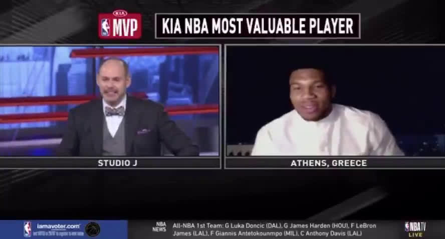 "[WorldWideWob] ""Don't call me MVP until i'm a champion."" - Giannis Antetokounmpo"