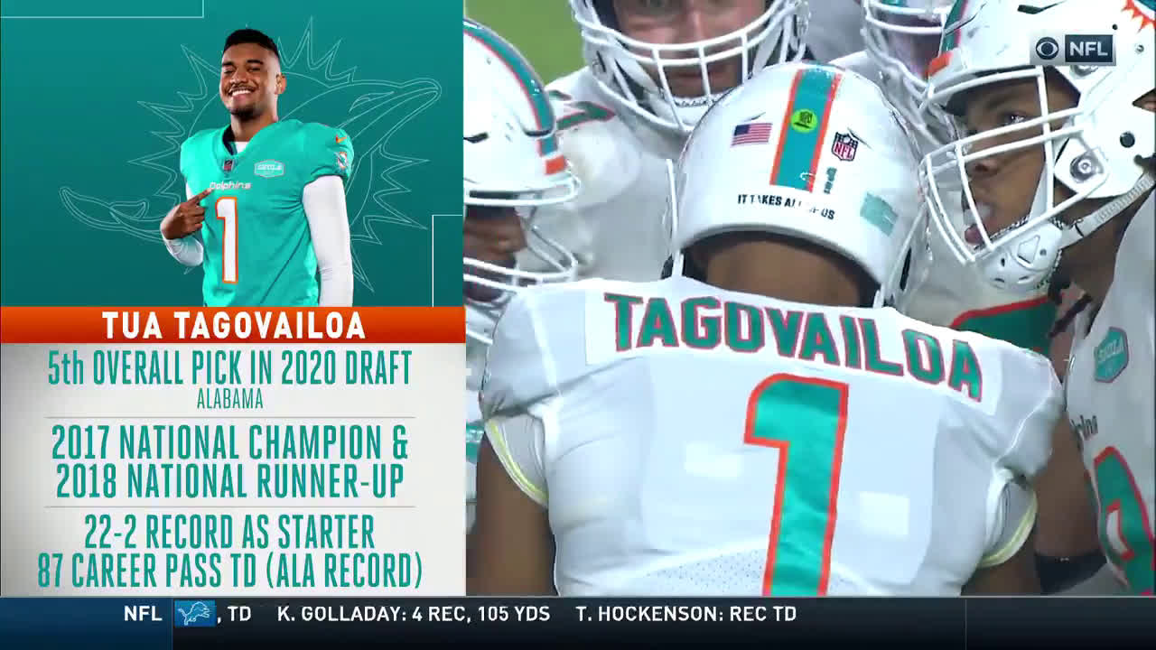 [Highlight] Tua Tagovailoa enters the game for the Miami Dolphins
