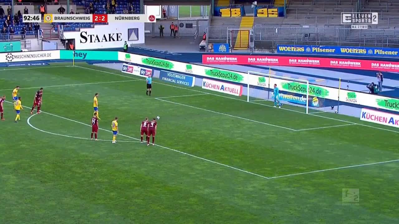 Eintracht Braunschweig [3]-2 Nürnberg - Nick Proschwitz PK 90+3'