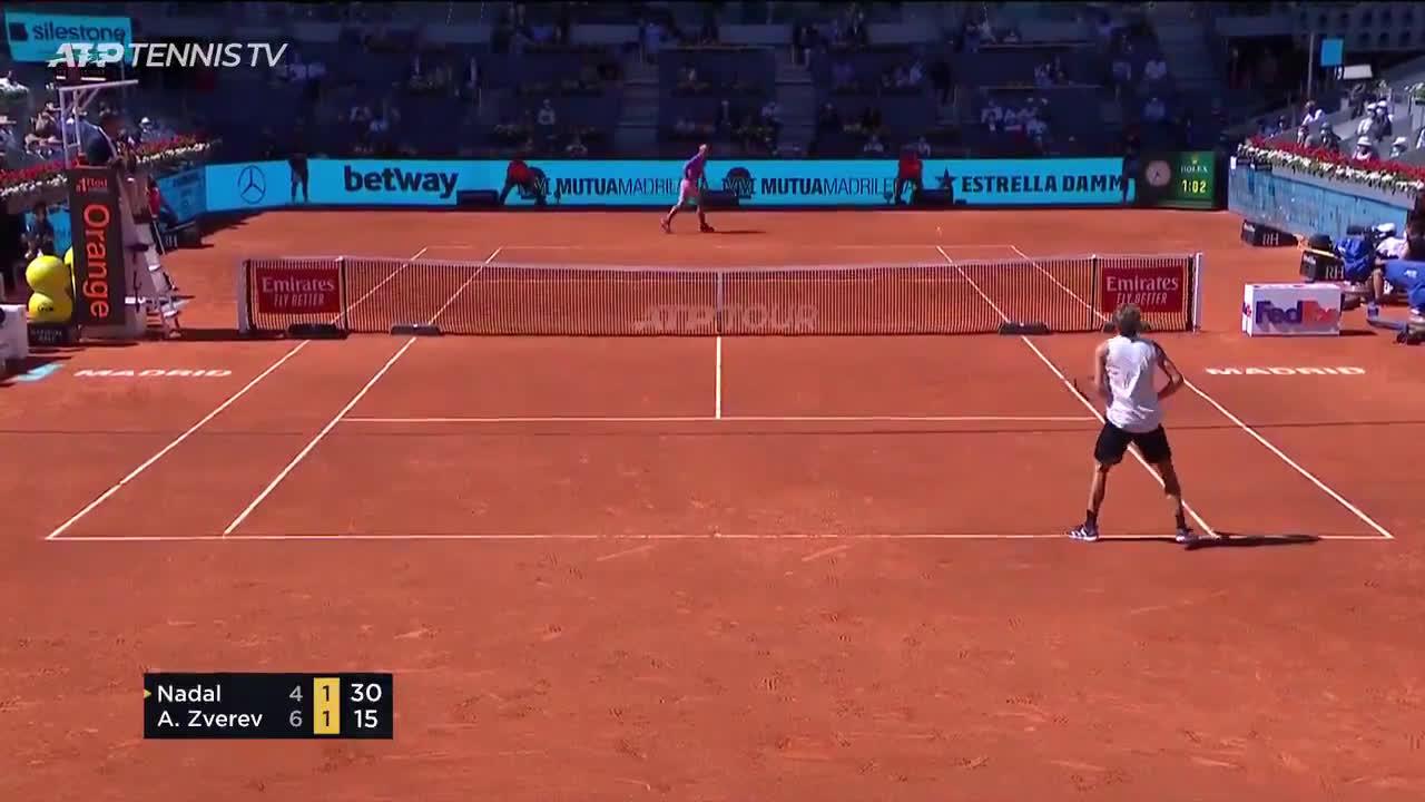 Court level Nadal vs Zverev point