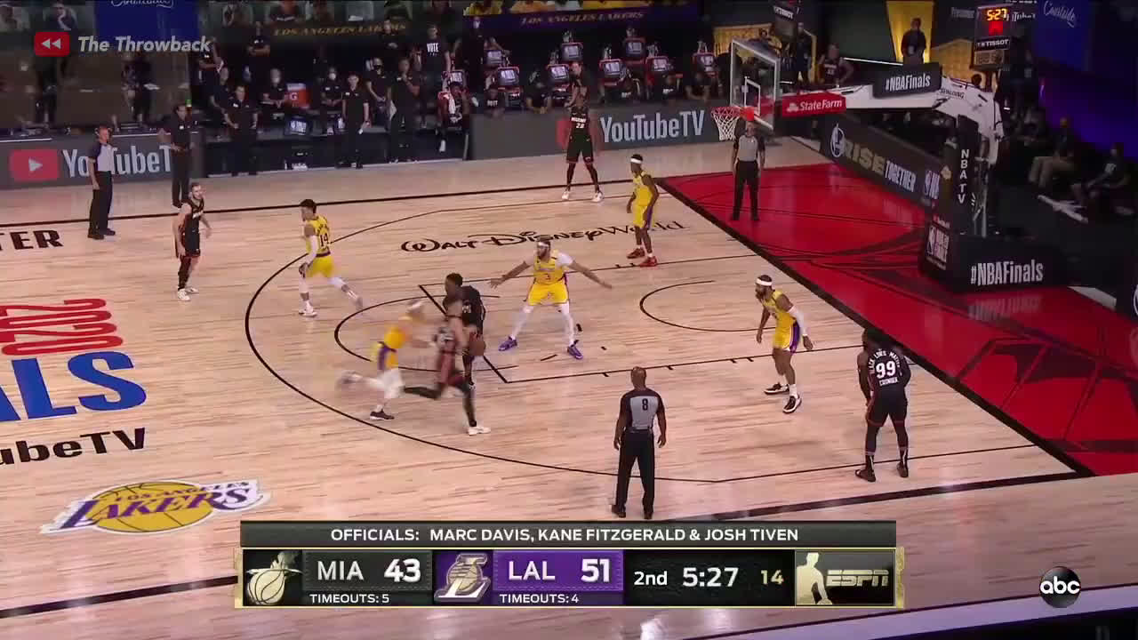 [Highlight] After trailing by 13 in the first quarter, the Lakers go on a 75-30 scoring run over a 22-minute span to take a 32-point lead in the third quarter