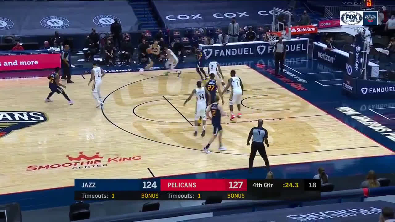 [Highlight] With his team down 3, Conley forces up a 3 in an effort to draw a foul, and hits nothing but air