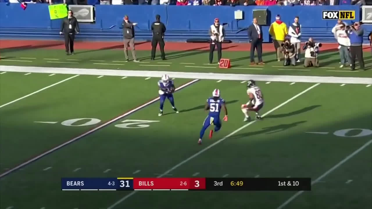 [Highlight] Trubiskys first pass to the Buffalo Bills players