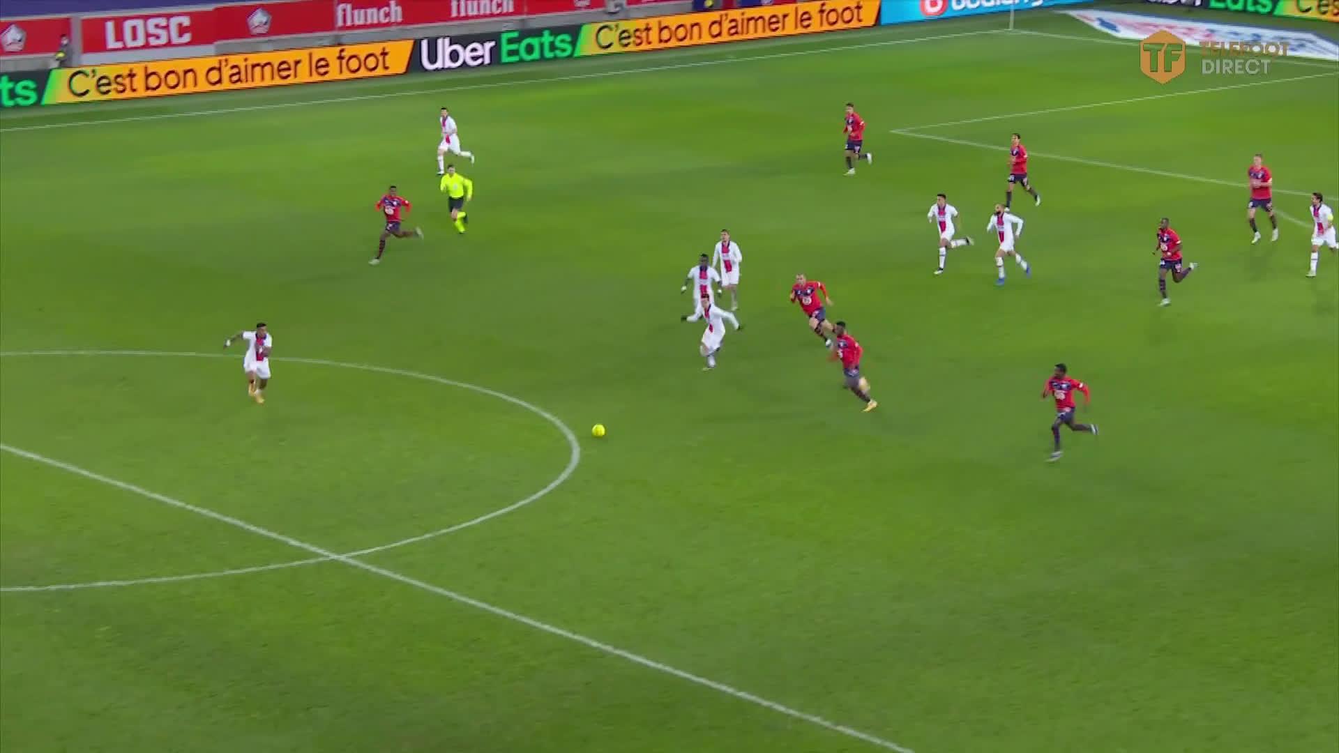 Presnel Kimpembe (PSG) great tackle on Burak Yilmaz (Lille)