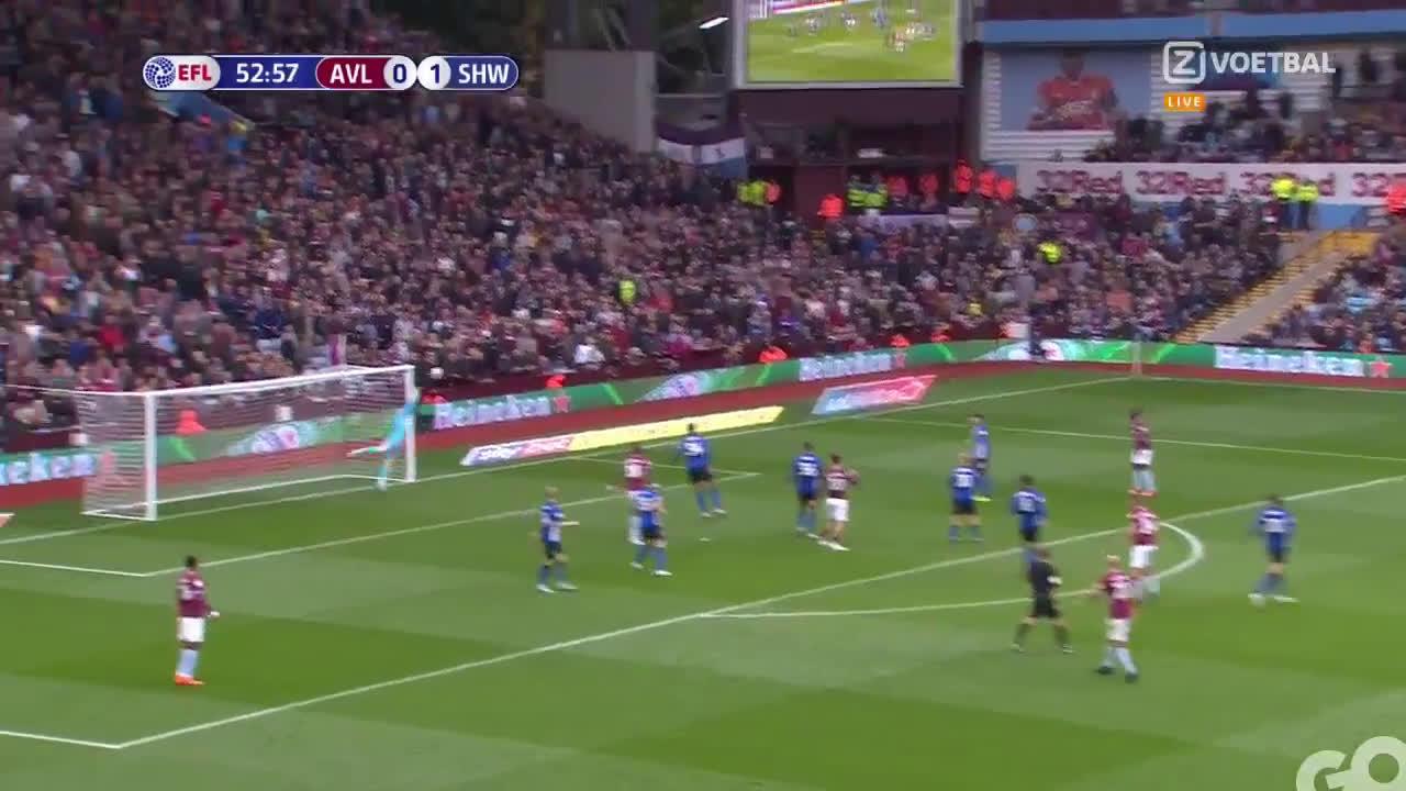 Gif Video John Mcginn Goal Vs Sheffield Wednesday 2018 For Aston Villa Superb Volley Soccer Blog Football News Reviews Quizzes
