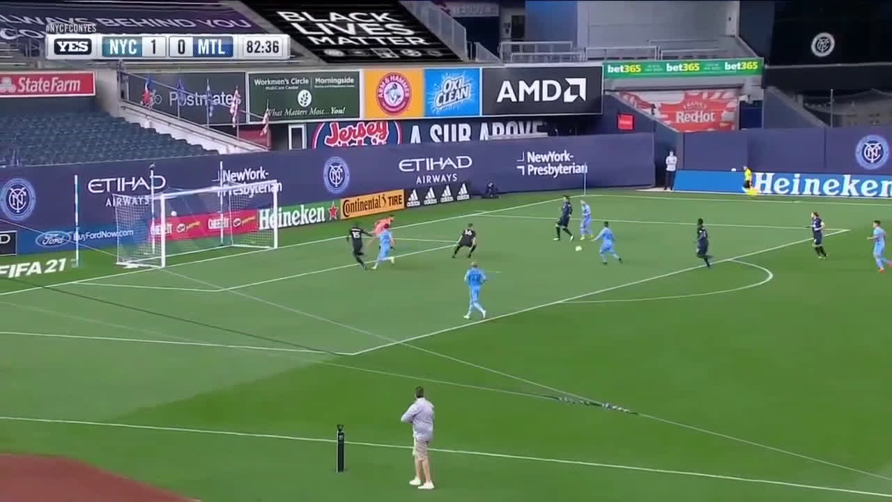 New York City FC [2]-0 Montreal Impact - Maxi Moralez 83'